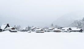 White Shirakawa-go Stock Photography