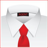 White shirt for the agent Stock Photo