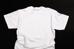 White shirt. On a black background Stock Photography