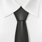 White shirt and black tie. Vector image Royalty Free Stock Photography