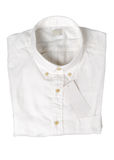 White shirt with blank price tag isolated Royalty Free Stock Photography