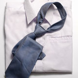 White shirt with blue tie Royalty Free Stock Photo