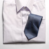 White shirt with blue tie Stock Image