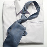 White shirt with blue tie Royalty Free Stock Photos