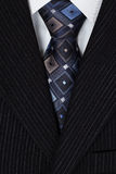 White shirt and blue tie men suit Stock Image