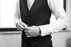 White shirt and cufflink Stock Photography