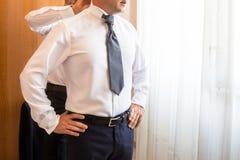 White shirt and cufflink Stock Photo