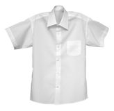 White shirt isolated on the white Royalty Free Stock Images