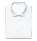 White shirt isolated on the white Royalty Free Stock Photos