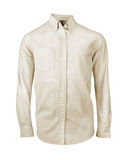 White shirt with long sleeves isolated Stock Images