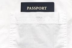White shirt with passport Stock Image