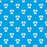 White shirt with print of man portrait pattern seamless blue. White shirt with print of man portrait pattern repeat seamless in blue color for any design. Vector Royalty Free Stock Photography
