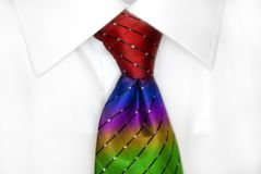 White Shirt RainbowTie Royalty Free Stock Images