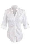 White shirt with rolled up sleeves Stock Photography