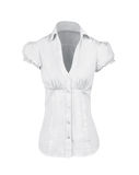 White shirt with short sleeves Stock Photography