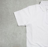 White shirt. On the table Royalty Free Stock Photography