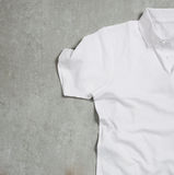 White shirt. On the table Royalty Free Stock Image