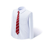 White shirt with tie Royalty Free Stock Photos