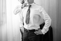 White shirt and tie Stock Photos