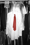 White Shirts Dress in Closet for Fashion Stock Photos