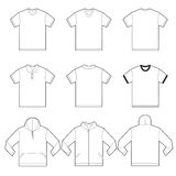 White Shirts Template Royalty Free Stock Photography