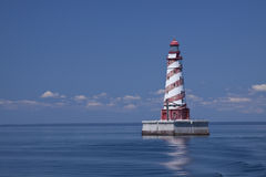 White Shoal Lighthouse Royalty Free Stock Images