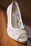 White shoe of the bride Stock Photography