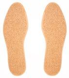 White shoe insoles. Isolated on white background royalty free stock photo