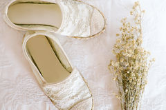 White shoe lace vintage style Stock Images