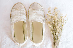 White shoe lace vintage style Stock Photography