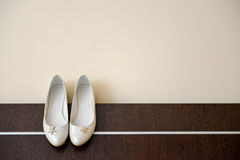 White shoes of bride Stock Image