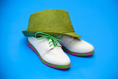 White shoes and green hat Stock Photos