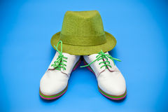 White shoes and green hat Stock Photo