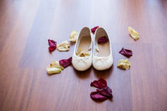 White shoes without heels Royalty Free Stock Images