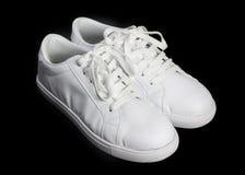 White shoes isolated. Royalty Free Stock Image