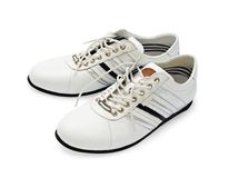 White shoes with laces Stock Photos