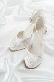 White shoes on a white background Royalty Free Stock Photos