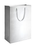 White shopping bag. On white background Royalty Free Stock Photo