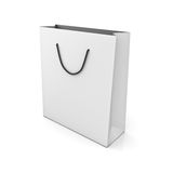 White shopping bag Stock Photos