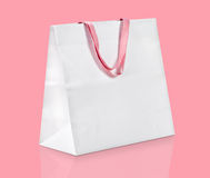 White shopping bag. Royalty Free Stock Images