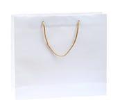 White shopping bag Royalty Free Stock Image