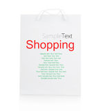White Shopping Bag Stock Images