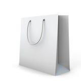 White shopping bag Stock Images