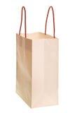 White shopping bag isolated Stock Image