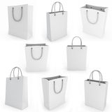 White shopping bag render image Royalty Free Stock Image