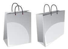 White shopping bags Stock Photography