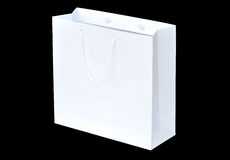 White shopping paper bag Royalty Free Stock Image