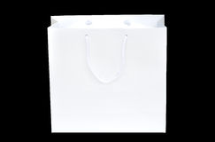 White shopping paper bag Royalty Free Stock Photography