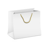 White shopping paper bag Stock Images