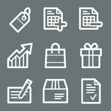 White shopping web icons Stock Image